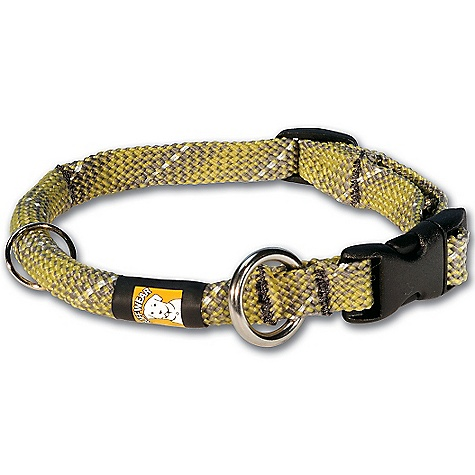 Entertainment On Sale. Ruffwear Knot-A-Just Collar DECENT FEATURES of the Ruff Wear Knot-A-Just Collar Intended Use: Ideal for any adventure Designed to integrate with the Knot-A-Leash. Strong, comfortable, and dependable Rope settles into fur for a cozy, streamlined fit Rugged, strong 10 mm rope with reflective strands woven into the collar for improved visibility Weiner lock buckle-made for dog collars-that's strong and curved for a dog's neck Welded stainless-steel O-ring leash attachment for a secure connection Separate split ring for important ID tags The SPECS Neck for S - 10-13in. (25-33 cm) M - 12-16in. (30-41 cm) L - 15-20in. (38-51 cm) XL - 19-26in. (48-66 cm) - $10.99