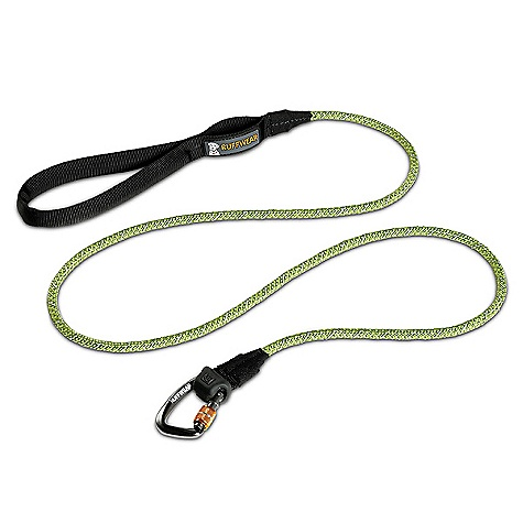Entertainment Ruffwear Knot-A-Leash DECENT FEATURES of the Ruffwear Knot-A-Leash Strong and secure collar attachment with locking carabiner Strong, supple kernmantle rope Comfortable, easy to hold tubular webbing handle Convenient accessory loop for pickup bags or small clip-on items Low-light visibility with reflective trim The SPECS Leash Length: 5 feet / 1.5 meter The SPECS for Small Rope Diameter: 7 mm The SPECS for Medium Rope Diameter: 10 mm - $29.95