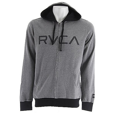 On Sale. Free Shipping. RVCA Men's RVCA Contrast Zip DECENT FEATURES of the RVCA Men's RVCA Contrast Zip Cotton/Polyester brushed fleece zip-up hoodie Rib cuffs, hood edge and bottom waist Drawcord at hood opening RVCA screenprint at front - $39.99