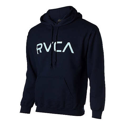 On Sale. Free Shipping. RVCA Men's Big RVCA Pull Over DECENT FEATURES of the RVCA Men's Big RVCA Pull Over Lightweight fleece hooded pullover Rib cuffs and waistband Front screen with inside neck print The SPECS 80% Cotton 20% Polyester - $36.99