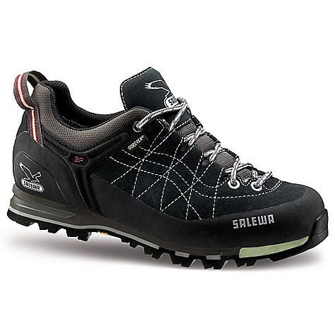 Camp and Hike Free Shipping. Salewa Women's WS MTN Trainer GTX Shoe DECENT FEATURES of the Salewa Women's WS MTN Trainer GTX Shoe Upper: 1.6 - 1.8 Suede with 360deg Sticky Rubber Rand Lining: Gore-Tex Performance Comfort Insole: Mid STIFF Nylon Outsole: Vibram MTN Trainer The SPECS Weight: 470 g - $178.95