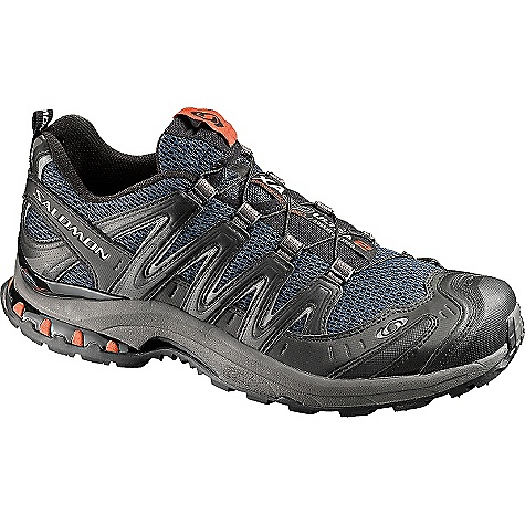 Fitness Free Shipping. Salomon Men's XA Pro 3D Ultra 2 Shoe DECENT FEATURES of the Salomon Men's XA Pro 3D Ultra 2 Shoe Protective rubber toe cap Gusseted tongue Lace pocket Sensifit Asymmetrical lacing Mud guard Quicklace Rubber Belt Quick drying breathable mesh The SPECS Weight: 400g/14.1 oz (SIZE 9 US) Midsole: Molded EVA Midsole: Dual density EVA Midsole: Energy Cell 2 Midsole: Pronation Control Outsole: Non-marking Running Contagrip Sockliner: EVA shaped foot bed Sockliner: Molded EVA Sockliner: OrthoLite Chassis: 3D advanced chassis - $129.95