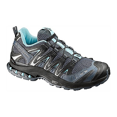 Camp and Hike On Sale. Free Shipping. Salomon Women's XR Mission Shoe DECENT FEATURES of the Salomon Women's XR Mission Shoe Tongue/collar: Lace pocket Chassis: Light Weight Muscle Protection: Protective TPU toe cap Midsole: WSR technology, Dual density EVA, Molded EVA, Compressed EVA Fit management: Friction free lace eyelet, QuicklaceOptimized fit for Women, Asymmetrical Sensifit, Asymmetrical Sensiflex Sockliner: OrthoLite Outsole: Contagrip HA, Contagrip LT, OS Tendon Non marking Contagrip Upper construction: Women's specific design The SPECS Weight: 270 (8.5) - $87.99