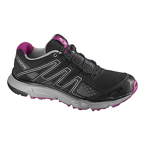 Camp and Hike Free Shipping. Salomon Women's XR Mission CS Shoe DECENT FEATURES of the Salomon Women's XR Mission CS Tongue/collar: Lace pocket Protection: Protective TPU toe cap Fit management: Friction free lace eyelet, Quicklace,Optimized fit for Women, Asymmetrical Sensifit, Asymmetrical Sensiflex Outsole: Contagrip HA, Contagrip LT, OS Tendon, Non marking Contagrip Chassis: Light Weight Muscle Midsole: WSR technology, Dual density EVA, Molded EVA, Compressed EVA Sockliner: OrthoLite Upper construction: Women's specific design - $129.95
