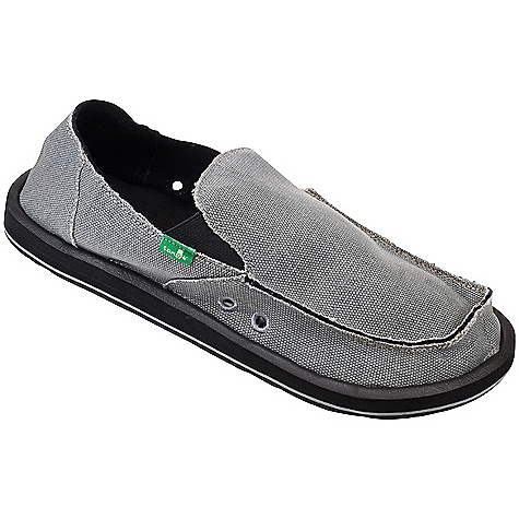 Skateboard Free Shipping. Sanuk Men's Vagabond Shoe DECENT FEATURES of the Sanuk Men's Vagabond Shoe Super Soft, High Rebound, Molded EVA Footbed featuring AEGIS Antimicrobial additive Happy U Rubber Sponge Outsole Handmade Canvas Upper with Frayed Edge Detail and Textile Liner Vegan and Vegetarian - $59.95