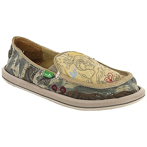 Skateboard Free Shipping. Sanuk Women's Scribble Shoe DECENT FEATURES of the Sanuk Women's Scribble Shoe Super Soft, High Rebound, Molded EVA Footbed featuring AEGIS Antimicrobial additive Happy U Rubber Sponge Outsole Handmade Textile Upper with Printed Art and Deco Stitching and Textile Liner Vegan and Vegetarian - $59.95