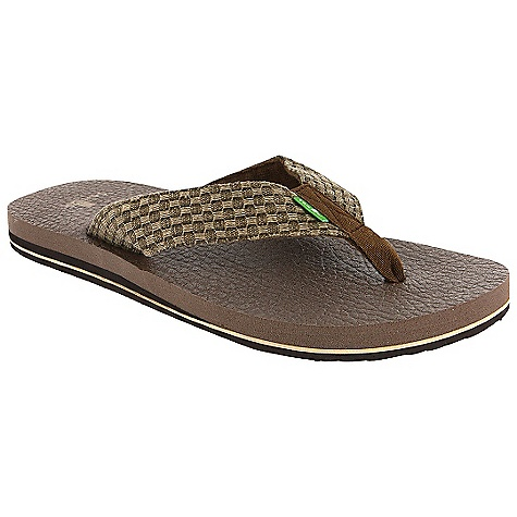 Entertainment On Sale. Sanuk Men's Yogi II Sandals DECENT FEATURES of the Sanuk Men's Yogi II Sandals Footbed made from real yoga mat! Happy u outsole Textured, woven strap with super comfy terrycloth liner Vegan and vegetarian - $17.99