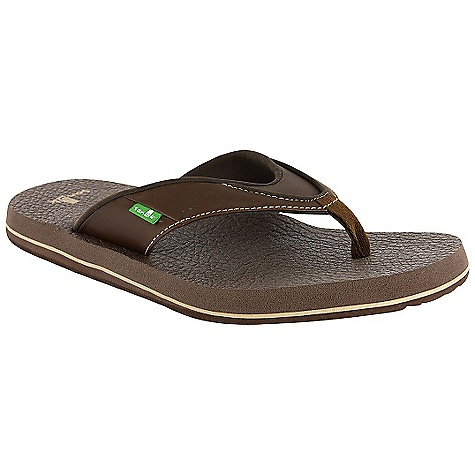 Entertainment On Sale. Sanuk Men's Beer Cozy Sandal DECENT FEATURES of the Sanuk Men's Beer Cozy Sandal Footbed Made From Real Yoga Mat! Happy U Rubber Sponge Outsole Synthetic or Textile Strap with Super Soft Jersey Liner Vegan and Vegetarian - $19.99