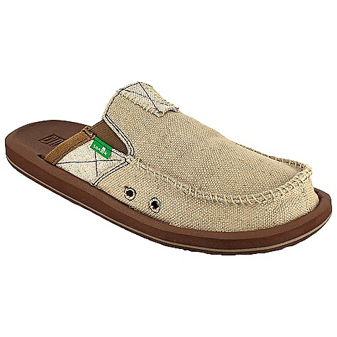 Entertainment Free Shipping. Sanuk Men's You Got My Back II Loafer DECENT FEATURES of the Sanuk Men's You Got My Back II Loafer Super Soft, High Rebound, Molded EVA Footbed featuring AEGIS Antimicrobial additive Happy U Rubber Sponge Outsole Handmade Canvas Upper with Frayed Edge Detail and Textile Liner Vegan and Vegetarian - $64.95