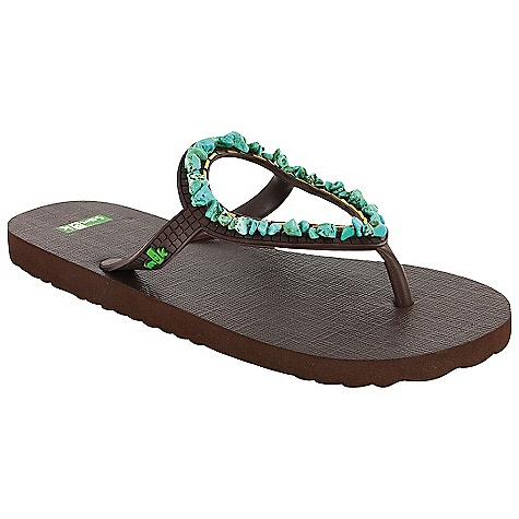 Entertainment On Sale. Sanuk Women's Ibiza Gypsy Sandal DECENT FEATURES of the Sanuk Women's Ibiza Gypsy Sandal Squishy soft rubber footbed Circular rubber shape ibiza strap featuring stone or shell embellishments Vegan and vegetarian (except shell and pearl) - $24.99