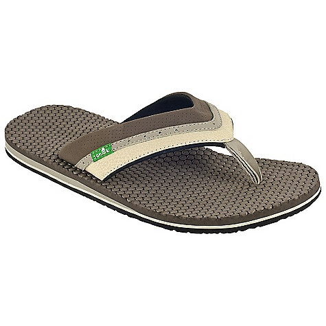 Entertainment On Sale. Sanuk Men's Bubbler Sandal DECENT FEATURES of the Sanuk Men's Bubbler Sandal Super soft, high rebound, thermo sliced EVA to create the in.Bubblerin. molded footbed Happy u outsole PU nubuck strap Super soft jersey liner Vegan and vegetarian - $17.99