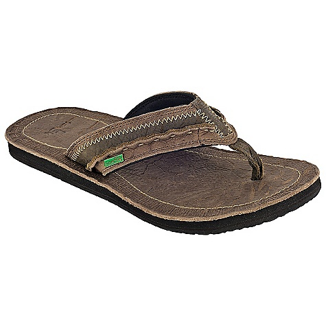 Entertainment On Sale. Free Shipping. Sanuk Men's Passport Sandal DECENT FEATURES of the Sanuk Men's Passport Sandal Super soft, high rebound EVA footbed with a embossed premium oiled leather sock-liner Happy u outsole Premium oiled leather, multi paneled strap with prayer stitch and contrast detailing Premium leather liner - $49.99