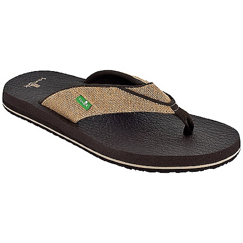 Entertainment On Sale. Sanuk Men's Beer Cozy Jute Sandal DECENT FEATURES of the Sanuk Men's Beer Cozy Jute Sandal Footbed Made From Real Yoga Mat! Happy U Rubber Sponge Outsole Textured Jute Strap with Super Soft Jersey Liner Vegan and Vegetarian - $24.99