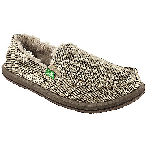 Skateboard On Sale. Free Shipping. Sanuk Women's Snowfox Chill DECENT FEATURES of the Sanuk Women's Snowfox Chill Super soft, high rebound, molded EVA footbed featuring aegis antimicrobial additive Happy u outsole Handmade soft textile upper featuring closed vamp seam with super comfy faux shearling chill liner Vegan and vegetarian - $37.99