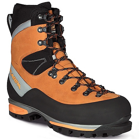Climbing Free Shipping. Scarpa Men's Mont Blanc GTX Boot FEATURES of the Scarpa Men's Mont Blanc GTX Boot Automatic and semi-automatic crampon-compatible Insulated Comfort Gore-Tex keep your feet warm and dry ErgoFit System offers omni-directional ankle flex allowing for natural motion with perfect support Rear randing locks heel securely for climbing performance Advanced Midsole System provides maximum shock absorption, improved sensitivity Lightest in its class - $478.95