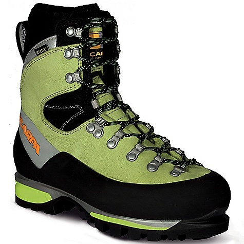 Climbing The Women's Mont Blanc GTX Boot by Scarpa. Offering modern innovations in sole and Upper design, this is the ultimate all-around mountain boot. Features of the Scarpa Women's Mont Blanc GTX Boot Automatic and semi-automatic crampon-compatible Insulated Comfort Gore-Tex keep your feet warm and dry ErgoFit System offers omni-directional ankle flex allowing for natural motion with perfect support Rear randing locks heel securely for Climbing Performance Advanced Midsole System provides maximum shock absorption, improved sensitivity Lightest in its class - $334.99