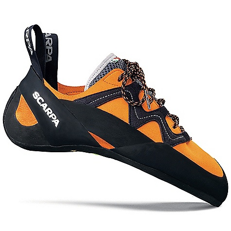 Climbing Free Shipping. Scarpa Vapor Climbing Shoe DECENT FEATURES of the Scarpa Vapor Climbing Shoe Bi-Tension active randing system provides maximum toe power Lorica toebox provides long-term fit and comfort Vibram XS Edge provides incredible grip and durability Lace loops wrap the foot for added precision The SPECS Upper: Suede/Lorica Midsole: Flexan Sole: Vibram XS Edge; 4 mm Last: FR Weight: 1/2 pair: 8.8 oz / 250 g - $148.95