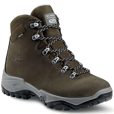 Camp and Hike Free Shipping. Scarpa Women's Luna GTX Boot DECENT FEATURES of the Scarpa Women's Luna GTX Boot Durable Nubuck leather uppers Vibram sole provides reliable traction in all conditions Bi-directional ankle flex Performance Comfort Gore-Tex to keep your feet dry Instant comfort The SPECS Upper: Nubuck Lining: Gore-Tex - Performance Comfort Insole: Nylon Midsole: PU Sole: Vibram Energy Weight: 1/2 pair: 1 lb / 454 g - $188.95