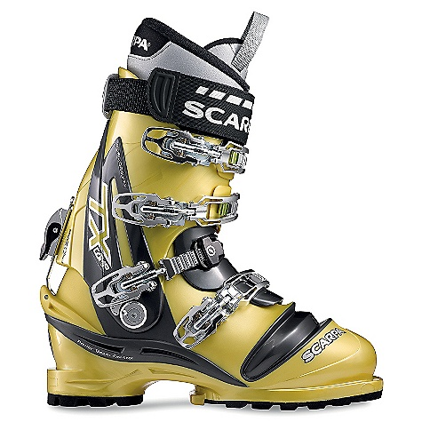 Ski Free Shipping. Scarpa Men's TX Comp Boots DECENT FEATURES of the Scarpa Men's TX Comp Boots New Telemark Norm-compatible! No tele-toe, better control downhill, easier walking/kick-stepping Power Block Tour forward-lean mechanism provides unmatched responsiveness while still allowing for a 'walk' mode Triple-injection foot/Bi-injection cuff = dialed performance Four Buckles with Active Power Strap offer max power Dual-inject edge guard protects bellows Pivoting tongue makes getting in and out easy Q-Link midstrap system provides ultimate foot lock with an improved, thicker cable for maximum durability The SPECS Inner Boot: Intuition Speed Pro Shell / Cuff / Tongue: 100% Pebax Buckles: 4 + Power Strap Forward Lean: 14deg - 21deg Fabric: Sole: Vibram Evo Weight: 3 lbs 13 oz / 1740 g (1/2 pair size 27) Binding System: NTN - $698.95