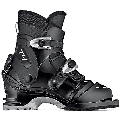 Ski Free Shipping. Scarpa T4 Boot DECENT FEATURES of the Scarpa Men's T4 Boot Torsion Beam adds lateral control Ergonomic bellows for great flex Two Easy-Lock buckles micro-adjust for perfect fit Ski/Walk mechanism locks/releases the cuff for downhill control or touring comfort Cordura liner for durability and reliable fit The SPECS Inner Boot: Cordura Shell / Cuff / Tongue: 100% Pebax Buckles: 2 Forward Lean: 16deg Fabric: Sole: Vibram Flash Weight: 3 lbs 4 oz / 1490 g (1/2 pair size 27) - $288.95