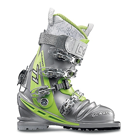 Ski Free Shipping. Scarpa Women's T1 Boot DECENT FEATURES of the Scarpa Women's T1 Boot PowerBlock Tour forward-lean mechanism provides unmatched responsiveness while still allowing for a 'walk' mode Q-Link midstrap system provides ultimate foot lock with an improved, thicker cable for maximum durability Intuition Speed Pro G Wmn liner offers no-sacrifice performance, comfort, and a women's-specific fit Dual-density foot and overlap cuff optimizes driving support and touring freedom Torsion Frame provides maximum lateral stability Zero-rocker sole profile provides immediate edge initiation Four buckles plus and Active Power Strap will drive any ski at maximum speed The SPECS Inner Boot: Intuition Speed Pro G WMN Shell / Cuff / Tongue: Pebax Renew Buckles: 4 + Active Power Strap Forward Lean: 15deg - 22deg Fabric: Sole: Vibram Escape Weight: 3 lbs 13 oz / 1744 g (1/2 pair size 25) - $698.95