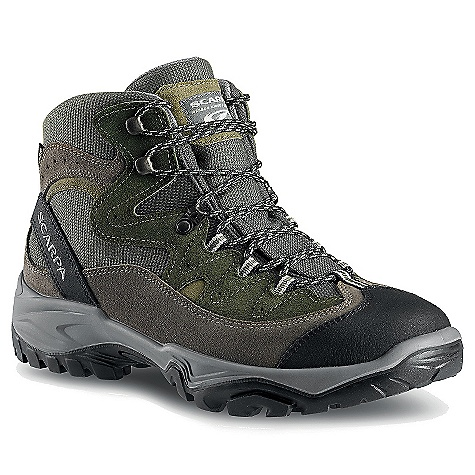 Camp and Hike Free Shipping. Scarpa Men's Cyclone GTX Boot DECENT FEATURES of the Scarpa Men's Cyclone GTX Boot Extended Comfort Gore-Tex for protection with maximum breathability Vibram sole provides reliable traction in all conditions Bi-directional ankle flex Nylon shank provides support without weight The SPECS Upper: Nylon/Suede Lining: Gore-Tex - Extended Comfort Insole: Nylon Midsole: PU Sole: Vibram Energy Weight: 1/2 pair: 1 lb 3 oz / 539 g - $168.95