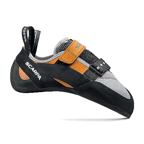 Climbing Free Shipping. Scarpa Vapor V Climbing Shoe DECENT FEATURES of the Scarpa Vapor V Climbing Shoe Bi-Tension active randing system provides maximum toe power Dual powerstrap closure Vibram XS Edge provides incredible grip and durability Lorica toebox provides long-term fit and comfort The SPECS Upper: Suede/Lorica Midsole: Flexan Sole: Vibram XS Edge; 4 mm Last: FR Weight: 1/2 pair: 9.1 oz / 258 g - $148.95