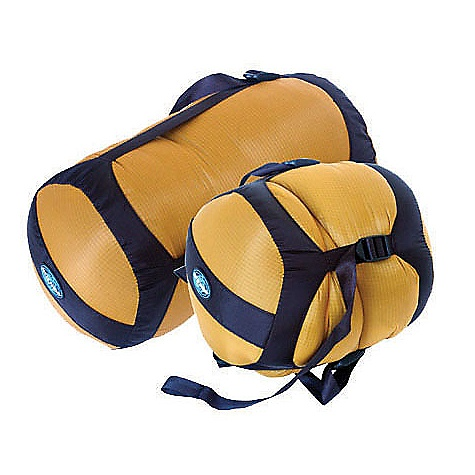 Sea to Summit Ultra-Sil Compression Sacks DECENT FEATURES of the Sea to Summit Ultra-Sil Compression Sacks Flip-top-lid design prevents strap tangling 30 D diamond ripstop siliconized CORDURA Four straps for even compression Extra long straps so these sacks can be filled to capacity Bar tack reinforced stress points Pull handle on the bottom Slippery finish for easy packing The SPECS for 6 Liter Dimension: 6in. x 14in. Weight: 2.3 oz / 66 g Volume: 6 liter to 2 liter The SPECS for 10 Liter Dimension: 7in. x 16in. Weight: 2.6 oz / 77 g Volume: 10 liter to 3.3 liter The SPECS for 15 Liter Dimension: 8in. x 18in. Weight: 2.7 oz / 78 g Volume: 15 liter to 5 liter The SPECS for 20 Liter Dimension: 9in. x 20in. Weight: 3.3 oz / 94 g Volume: 20 liter to 6.5 liter The SPECS for 30 Liter Dimension: 10.5in. x 23in. Weight: 3.8 oz / 108 g Volume: 30 liter to 10 liter This product can only be shipped within the United States. Please don't hate us. - $23.95