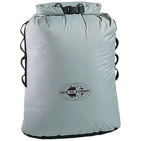 The Sea to Summit Trash Dry Sack. Designed with a unique roll top closure that accepts a disposable garbage bag liner, the Trash Dry Sack is used as a soft garbage container in the field, in a boat or in your car. Roll the top down to prevent any leakage while transporting. Open it up to put trash in. Hypalon clip-in loops allow it to be hung from a tree or tied to the outside of a pack. Features of the Sea to Summit Trash Dry Sack Double stitched and tape seam sealed Hypalon roll top closure for drip-free carrying Uses any plastic garbage bag as liner Oval base gives flatter shape for better carrying when attached to packs, kayaks, etc Daisy chain webbing and Hypalon clip loops for easy attachment - $29.95