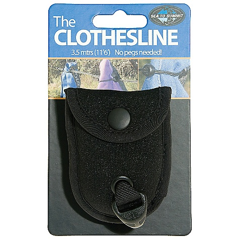 On Sale. Sea to Summit Lite Line Clothesline DECENT FEATURES of the Sea to Summit Lite Line Clothesline Clothesline measures more than 11 1/2 feet Dual cord with beads to hold garments in place Stows away in the tiniest nylon pouch Carry pouch made of stretch fabric The SPECS Weight: 1.3 oz Dimension: 2 1/2in. x 1 1/2in. This product can only be shipped within the United States. Please don't hate us. - $6.95