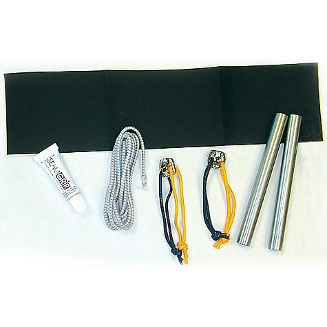 Camp and Hike Sierra Designs Trail Repair Kit DECENT FEATURES of the Sierra Designs Trail Repair Kit Tent pole repair tubes SL 9.0mm OD / 9.8mm OD (2) Self adhesive nylon fabric patch Material (12in. x 3.5in. piece) Zipper pulls (#8 YKK) (2) McNett Corporation Seam Sealer (1 tube) Cold resistant shock cord (1.5mm) - $29.95