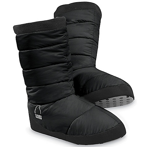 Camp and Hike Free Shipping. Sierra Designs Women's Pull-On Down Bootie DECENT FEATURES of the Sierra Designs Women's Pull-On Down Bootie Heel Pull Tab Fleece Cuff Heavy Duty Nylon Non-Skid Sole The SPECS Insulation: 700 FP Down Shell: Elevation: 100% Recycled Polyester Ripstop - $54.95