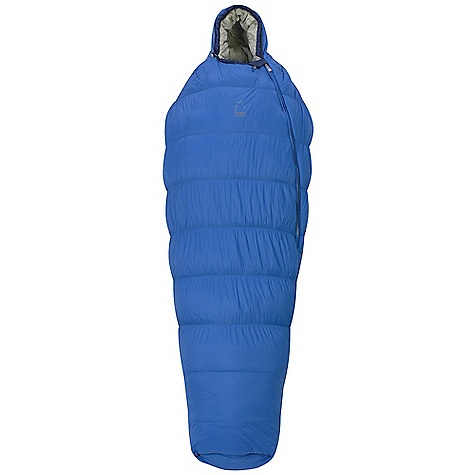 Camp and Hike On Sale. Free Shipping. Sierra Designs Lazer 30 Degree Sleeping Bag DECENT FEATURES of the Sierra Designs Men's Lazer 30 Degree Sleeping Bag Shingled construction Ergonomically shaped footbox Snag-free zipper tracks Draw cord at collar Ultralight footbox vent (12in.) Offset ultralight jacket zipper (30in. Ultralight Jacket Hood Partial Flex on the exterior torso Zipper draft tube Includes stuff and storage sacks The SPECS Temperature Rating: 30deg F / -1deg C Zipper Side: Left Stuff Size: 8in. x 18in. Material: Fill: ThermoDry TECH Shell: 20D Nylon Ripstop Liner: 20D Nylon Ripstop The SPECS for Regular Trail Weight: 2 lbs 6 oz Shoulder Girth: 53 - 60in. Hip Girth: 50 - 57in. Footbox Girth: 38in. Fits Up To: 6' Fill Weight: 25 oz The SPECS for Long Trail Weight: 2 lbs 9 oz Shoulder Girth: 55 - 62in. Hip Girth: 52 - 59in. Footbox Girth: 40in. Fits Up To: 6'6in. Fill Weight: 27 oz - $169.99