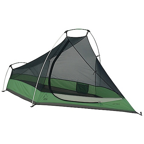 Camp and Hike Free Shipping. Sierra Designs Light Year 1 Person Tent DECENT FEATURES of the Sierra Designs Light Year 1 Person Tent PVC-free seam tape Superseal floor Reflective door trim and guy outs Hanging pockets Ultralight d-door Color-coded main door Ultralight clips Jakes foot pole attachment Non-rotating elbow connector The SPECS Season: 3 Capacity: 1 Person Trail Weight: 2 lbs 11 oz / 1.22 kg Packed Weight: 3 lbs / 1.36 kg Packed Dimension: 19 x 4in. / 48.3 x 10.2 cm Number of Doors: 1 Interior Area: 20 square feet Vestibule Area: 3 square feet Peak Height: 38in. Floor: 70D Nylon, 3000mm Body: 20D Nylon Fly: 40D HT Nylon, 1500mm Poles: DAC Featherlite NSL - $189.95