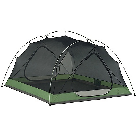 Camp and Hike Free Shipping. Sierra Designs Lightning HT 3 Person Tent DECENT FEATURES of the Sierra Designs Lightning HT 3 Person Tent PVC-free seam tape Superseal floor Reflective door trim and guy outs Hanging pockets Ultralight d-door Color-coded main door 2 Doors, 2 vestibules Vent Ultralight clips Jakes foot pole attachment Ball cap connector Swivel hub (h,c, h/c) The SPECS Season: 3 Capacity: 3 Person Trail Weight: 5 lbs 3 oz / 2.35 kg Packed Weight: 5 lbs 10 oz / 2.55 kg Packed Dimension: 20 x 5.5in. / 50.8 x 14 cm Number of Doors: 2 Interior Area: 40 square feet Vestibule Area: 7 + 10 square feet Peak Height: 46in. Floor: 70D Nylon, 3000mm Body: 20D Nylon Fly: 40D Nylon, 1500mm Poles: DAC Featherlite NSL - $369.95
