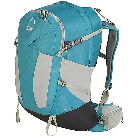 Camp and Hike Free Shipping. Sierra Designs Women's Rejoice 30 Pack The SPECS Torso Fit Range: 14.5 - 17in. Volume: 1800 cubic inches Weight: 2 lbs 13 oz Load Capacity: 30 lb Length: 24in. Width: 11in. Depth: 10in. Fabric: 150 D Nylon Rain Dobby, 315 D Nylon Cordura, 630 D Nylon - $189.95