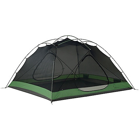Camp and Hike Free Shipping. Sierra Designs Lightning HT 4 Person Tent DECENT FEATURES of the Sierra Designs Lightning HT 4 Person Tent PVC-free seam tape Superseal floor Reflective door trim and guy outs Hanging pockets Ultralight d-door Color-coded main door 2 Doors, 2 vestibules Ultralight clips Jakes foot pole attachment Ball cap connector M hub The SPECS Season: 3 Capacity: 4 Person Trail Weight: 6 lbs 15 oz / 3.15 kg Packed Weight: 7 lbs 7 oz / 3.37 kg Packed Dimension: 20 x 8in. / 50.8 x 20.3 cm Number of Doors: 2 Interior Area: 57.5 square feet Vestibule Area: 14.5 + 14.5 square feet Peak Height: 50in. Floor: 70D Nylon, 3000mm Body: 20D Nylon Fly: 40D Nylon, 1500mm Poles: DAC Featherlite NSL - $489.95