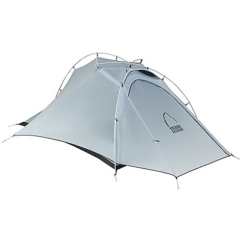Camp and Hike Free Shipping. Sierra Designs Mojo 2 Tent DECENT FEATURES of the Sierra Designs Mojo 2 Tent PVC-free seam tape Superseal floor Reflective door trim and guy outs External pitch Hanging pockets Ultralight d-door Ultralight clips Grommet pole attachment Locking pole tips Ball cap connector Sunflower hub Vent The SPECS Season: 3 Capacity: 2 Person Trail Weight: 2 lbs 11 oz / 1.22 kg Packed Weight: 3 lbs 2 oz / 1.42 kg Packed Dimension: 17.5 x 5in. / 44.5 x 12.7 cm Number of Doors: 1 Interior Area: 26.5 square feet Vestibule Area: 7 square feet Peak Height: 38in. Floor: 40d nylon, 3000 mm Body: 20d nylon Fly: 20d nylon, 1500 mm Poles: DAC Featherlite NSL - $399.95