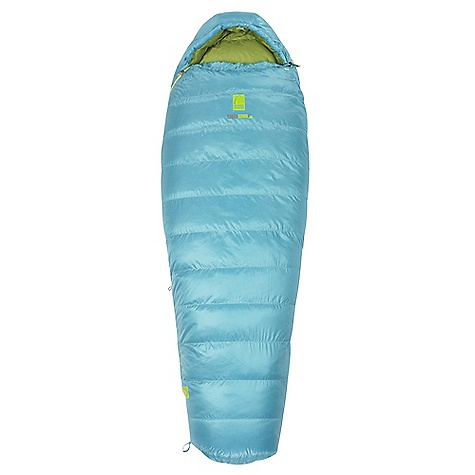 Camp and Hike Free Shipping. Sierra Designs Women's Eleanor 30 Lite Sleeping Bag DECENT FEATURES of the Sierra Designs Women's Eleanor 30 Lite Sleeping Bag DriDown - Stays drier 7 times longer than untreated down Keeps warmer - Retains 34% more loft than untreated down when exposed to moisture and humidity Dries faster - Dries 33% faster than untreated down Women's specific construction and warmth rating Snag-free zipper tracks Draw cord at collar Draft collar Easy access, ventable, 60 inch zipper Zipper draft tube Ergonomic hood and footbox Includes stuff and storage sacks The SPECS Insulation: 600 Fill-Power DriDown Shell material: 30D Polyester Micro Ripstop Liner material: 30D Polyester Temp Rating: 30deg / -1degC Shape: Mummy EN Comfort Limit: 29degF / -2degC Fits to: 5 ft 6 in / 168 cm Length: 72 in / 183 cm Zipper Side: Right Shoulder girth: 57 in / 145 cm Hip girth: 57 in / 145 cm Footbox: 39 in / 99 cm Fill weight: 26 oz / .7 kg Total weight: 2 lb 9 oz / 1.16 kg Stuffed diameter: 8 in / 23 cm Stuffed length: 16 in / 36 cm - $319.95