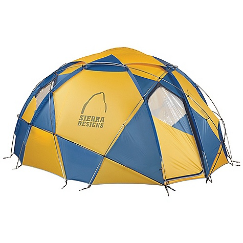 Camp and Hike Free Shipping. Sierra Designs Grand Mothership 12 Person Tent DECENT FEATURES of the Sierra Designs Grand Mothership 12 Person Tent PVC-free seam tape Continuous pole sleeves Reflective door trim and guy outs Hanging pockets D doors Windows Vent Clip locks Grommet pole attachment Locking pole tips The SPECS Season: 4 Capacity: 12 Person Trail Weight: 28 lbs 15 oz / 13.13 kg Packed Weight: 32 lbs 14 oz / 14.91 kg Packed Dimension: 30 x 20 x 15in. / 76 x 51 x 38 cm Number of Doors: 2 Interior Area: 140 square feet Peak Height: 85in. Body: 70 D Nylon, 1500 mm Poles: DAC DA-17 - $4,495.95