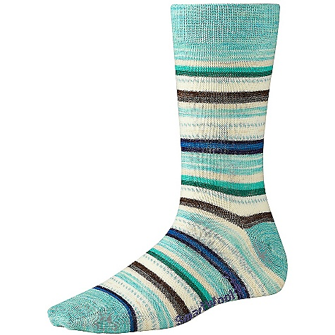 Smartwool Women's Margarita Sock DECENT FEATURES of the Smartwool Women's Margarita Sock WOW technology The SPECS Height: Crew 73% Merino Wool, 25% Nylon, 2% Elastane - $19.95