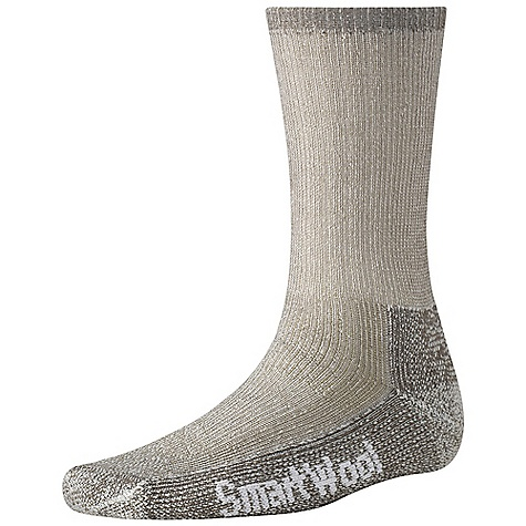 Camp and Hike Smartwool Trekking Heavy Crew Sock FEATURES of the Smartwool Trekking Heavy Crew Sock Sizing clearly indicated on the sock Flat knit toe seam Smartwool Trekking Heavy Crew Sock Elasticized arch brace Made in USA - $20.95