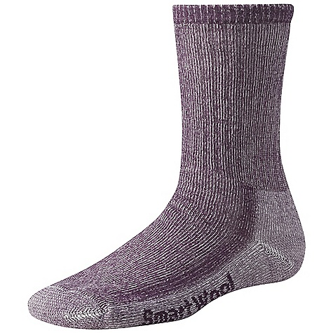 Camp and Hike Moosejaw Staff Pick - Kate, Moosejaw Secret HeadquartersThe Women's Hiking Medium Crew Sock by Smartwool. This all-purpose three-season outdoor sock was designed for rugged day hikes or moderate backpacking. Arch brace holds the sock in place and adds additional support. Flat-knit toe seam keeps you comfortable throughout the day. Features of the Smartwool Women's Hiking Medium Crew Sock Sizing clearly indicated on the sock Flat knit toe seam Elasticized arch brace - $18.95