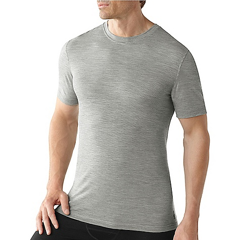 Free Shipping. Smartwool Men's NTS Microweight Tee Shirt DECENT FEATURES of the Smartwool Men's NTS Microweight Tee Shirt Form Fit Jersey knit; UPF 30 Crew neck with set-in short sleeves Stripe tape binding at back neck and contrast color internal stitching detail Flatlock seam construction is designed to eliminate chafing Heat transfer logo at left hip The SPECS Garment Weight: 5.29 oz / 150 g Fabric Weight: 150 gm/m2 / 4.5 oz/yd2 100% Merino Wool - $69.95
