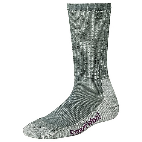 Camp and Hike Smartwool Women's Hiking Light Crew Sock DECENT FEATURES of the Smartwool Women's Hiking Light Crew Sock WOW technology in reinforced sole for maximum comfort and durability 3 x 1 ribbed leg Sizing clearly indicated on the sock Flat knit toe seam Elasticized arch brace The SPECS Height: Crew 73% Merino Wool, 26% Nylon, 1% Elastane - $17.95