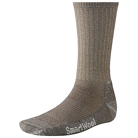 Camp and Hike The Hiking Light Crew Sock by Smartwool. Arch brace holds the sock in place and adds additional support. Flat-knit toe seam keeps you comfortable throughout the day. Light, half-cushioning is perfect for moderate hiking or aggressive walking. Features of the Smartwool Hiking Light Crew Sock Sizing clearly indicated on the sock Flat knit toe seam Elasticized arch brace Made in USA - $17.95