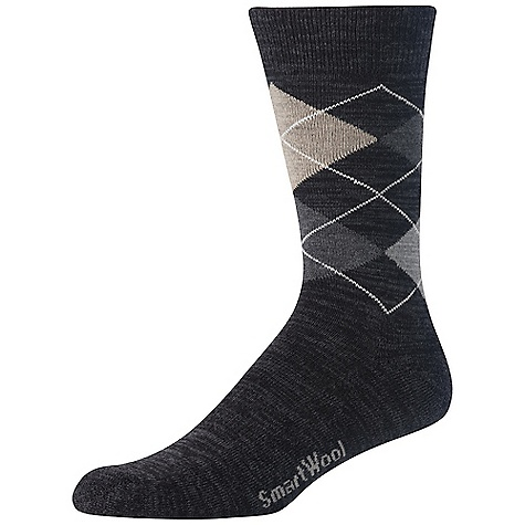 Smartwool Men's Diamond Jim Sock FEATURES of the Smartwool Men's Diamond Jim Sock Supportive arch brace Made in USA - $20.95