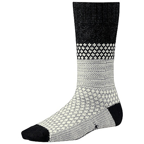On Sale. Smartwool Women's Popcorn Cable Sock DECENT FEATURES of the Smartwool Women's Popcorn Cable Sock WOW Technology The SPECS Fabric: 90% Merino Wool, 9% Nylon, 1% Elastane Height: Crew Cushioning: Cushion - $17.99