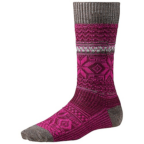 On Sale. Smartwool Women's Snowflake Pop Sock DECENT FEATURES of the Smartwool Women's Snowflake Pop Sock WOW Technology The SPECS Fabric: 90% Merino Wool, 9% Nylon, 1% Elastane Height: Crew Cushioning: Cushion - $16.99