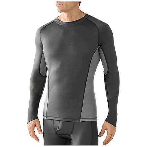 Free Shipping. Smartwool Men's Lightweight Crew DECENT FEATURES of the Smartwool Men's Lightweight Crew Form Fit Jersey and Rib knit; UPF 35 Sculpted side panel eliminates side seam for reduced chafing and body enhancing fit Contoured sleeve cuff and drop tail bottom hem for increased coverage Contrast color stitching on interior flatlock seams The SPECS Garment Weight: 8.46 oz / 240 g Fabric Weight: 195 gm/m2 / 5.7 oz/yd2 100% Merino Wool - $84.95
